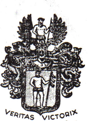 von Breyman family crest taken from a sheet of Bertha von Breyman Lindgren's stationery